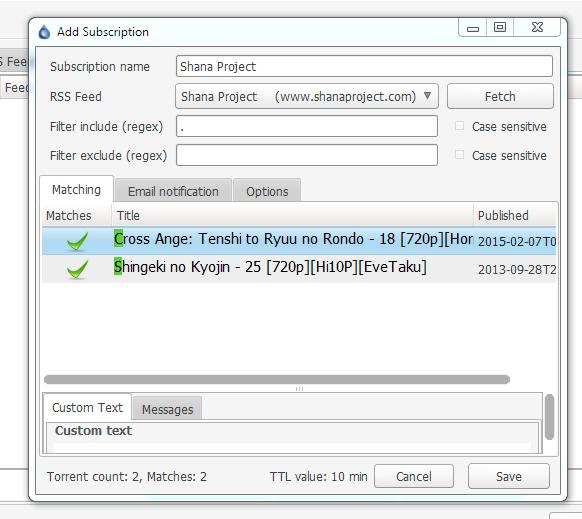 Ettv rss feed - Workaround for: [eztv], [ettv], [rarbg